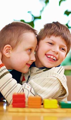 two young boys with autism